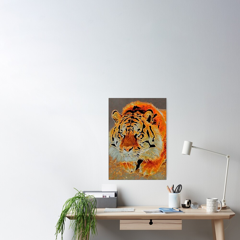TIRED TIGER Poster