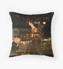Lightpaint Chinatown Throw Pillow