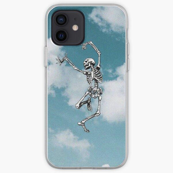 skull dancing , sky iPhone Soft Case
