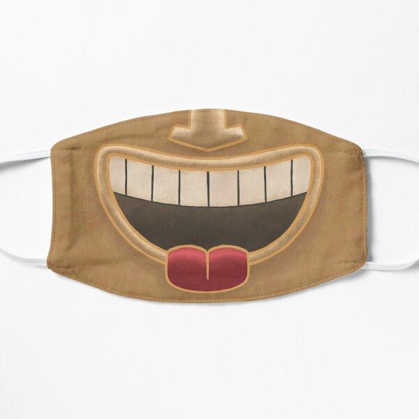 Caramel Tiki Smile Mask! (Red Tongue Version) Flat Mask