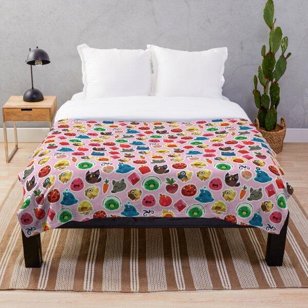 Cute Pink Slime Rancher Pattern Throw Blanket