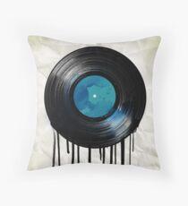 vinyl drip Throw Pillow