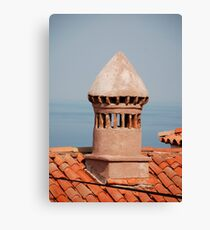 Chimney in Piran Canvas Print