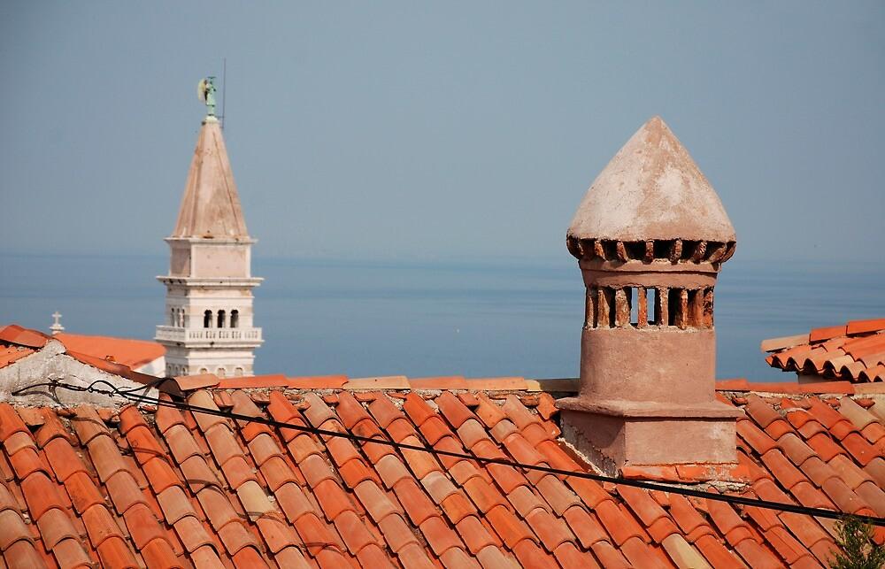 Chimneys in Piran, Slovenia by jojobob