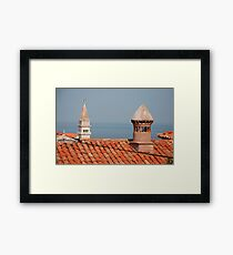 Chimneys in Piran, Slovenia Framed Print