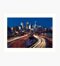 Minneapolis Night Lights 2 Art Print