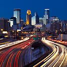 Minneapolis Night Lights 2 by Jeff Stubblefield