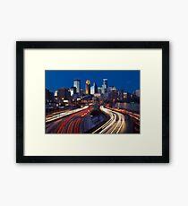 Minneapolis Night Lights 2 Framed Print