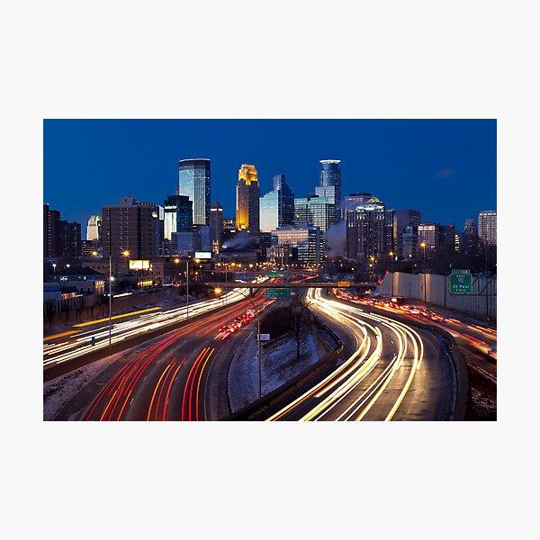 Minneapolis Night Lights 2 Photographic Print