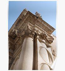 Column, Basilica di Santa Croce Poster
