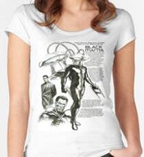 Black Manta Info Page Women's Fitted Scoop T-Shirt