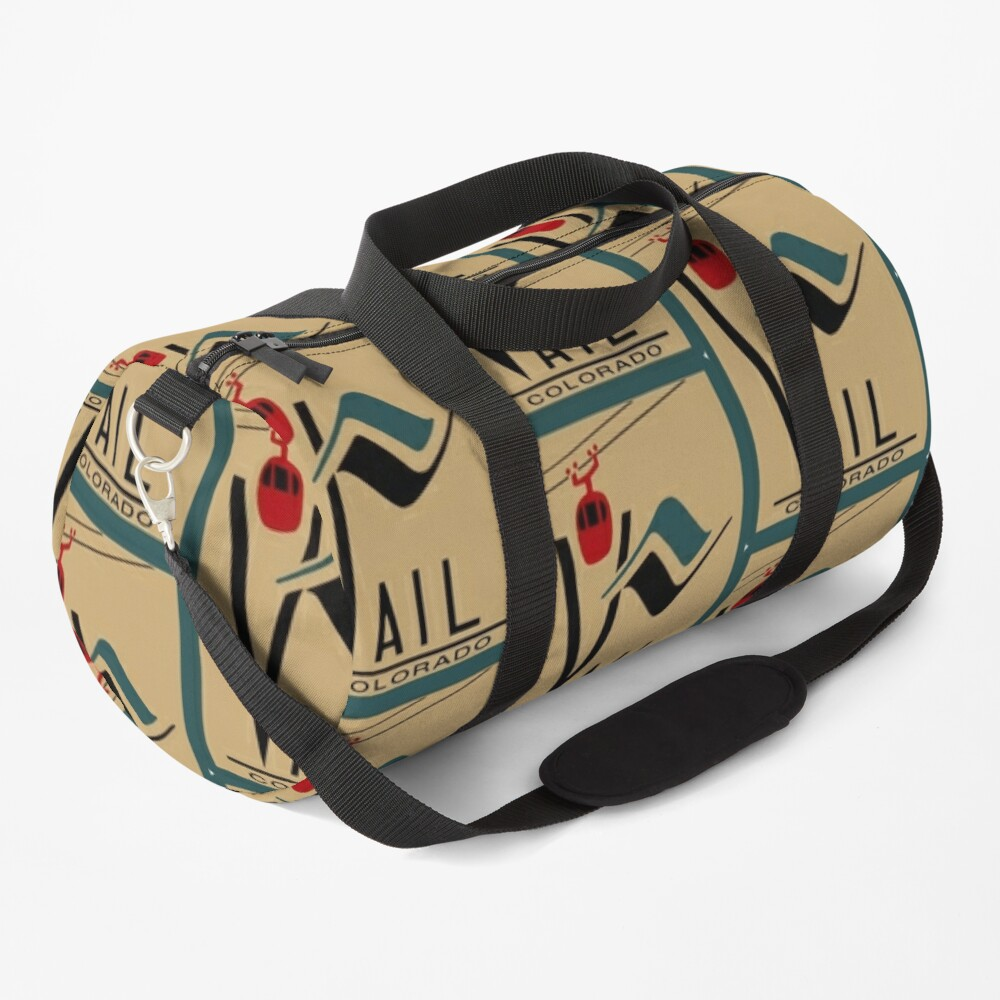 Vail Colorado Vintage Travel Decal Duffle Bag