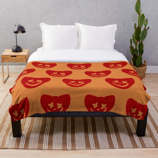 Felinophobia Logo Tile Print Throw Blanket