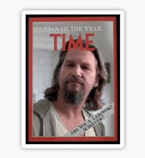 The Dude - Time Magazine Man of the Year Sticker