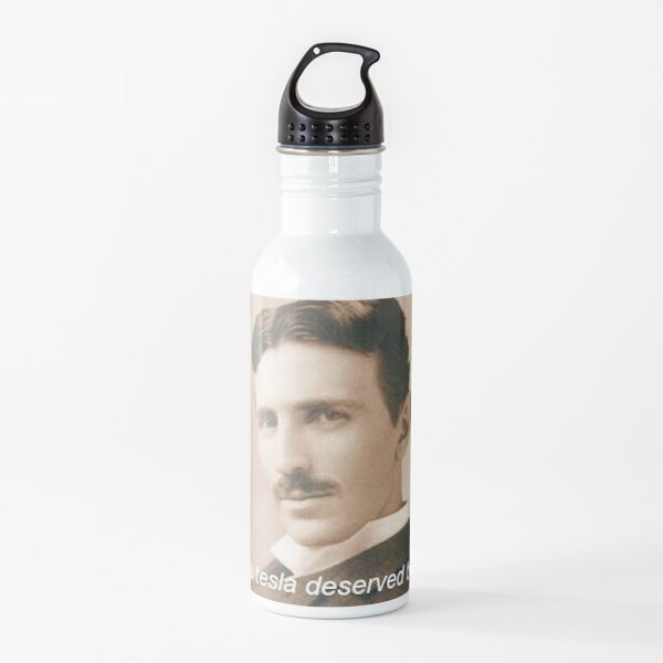 nikola tesla deserved better Water Bottle