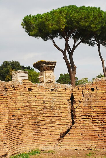 Wall, Roman Forum by jojobob