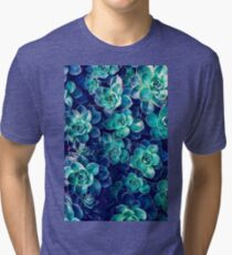Plants of Blue And Green Tri-blend T-Shirt