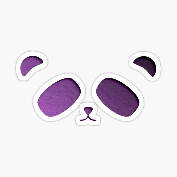 Purple Panda Paper Cutout Sticker