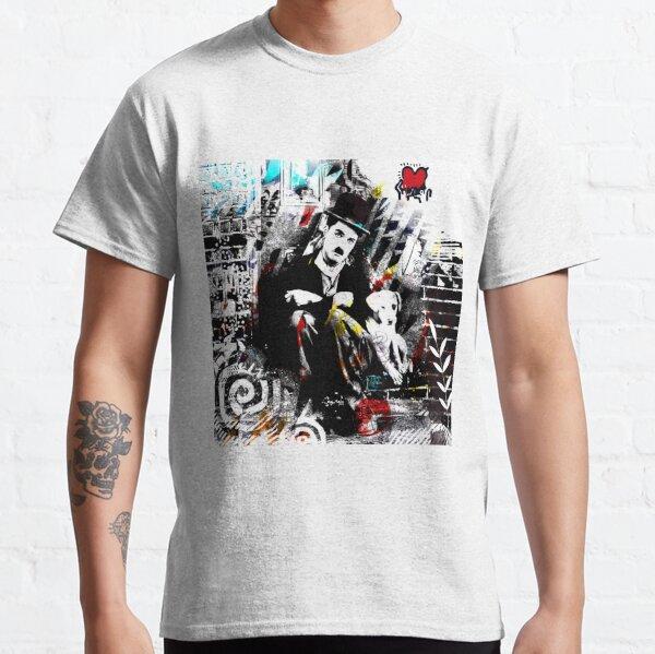 A dog's life Charlie Chaplin peinture moderne style pop art Classic T-Shirt