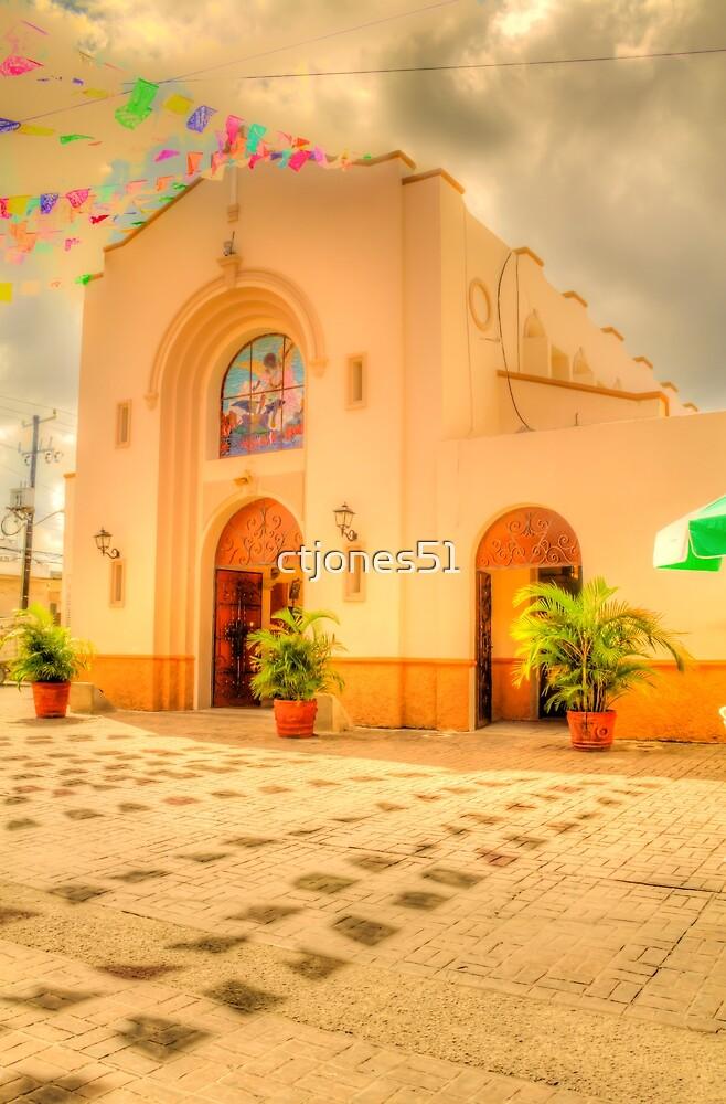 The Church in Downtown Cozumel, Mexico by ctjones51