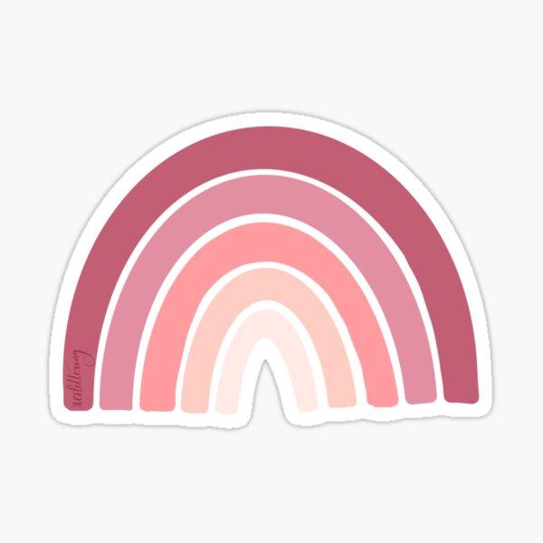 mauve pink muted rainbow Sticker