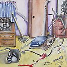 consumed by mans inventions and im still cleaning this damned house! by helene ruiz