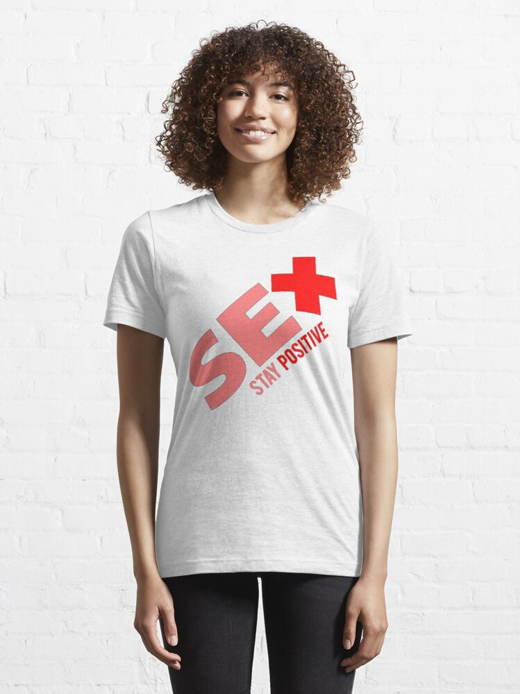 Alternate view of Sex + Stay Positive Essential T-Shirt