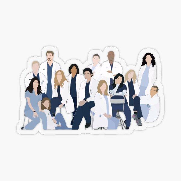 Greys season 6 cast Transparent Sticker