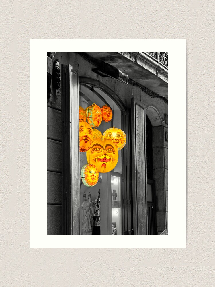 Alternate view of A colourful window Art Print