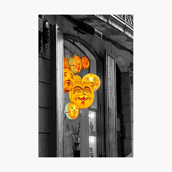 A colourful window Photographic Print