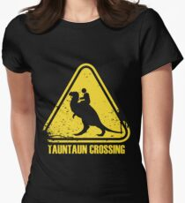 Beware! Tauntaun Crossing! Womens Fitted T-Shirt