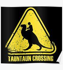 Beware! Tauntaun Crossing! Poster