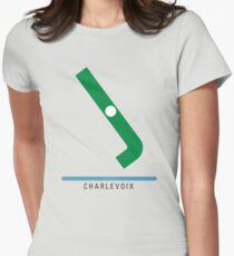 Station Charlevoix Womens Fitted T-Shirt