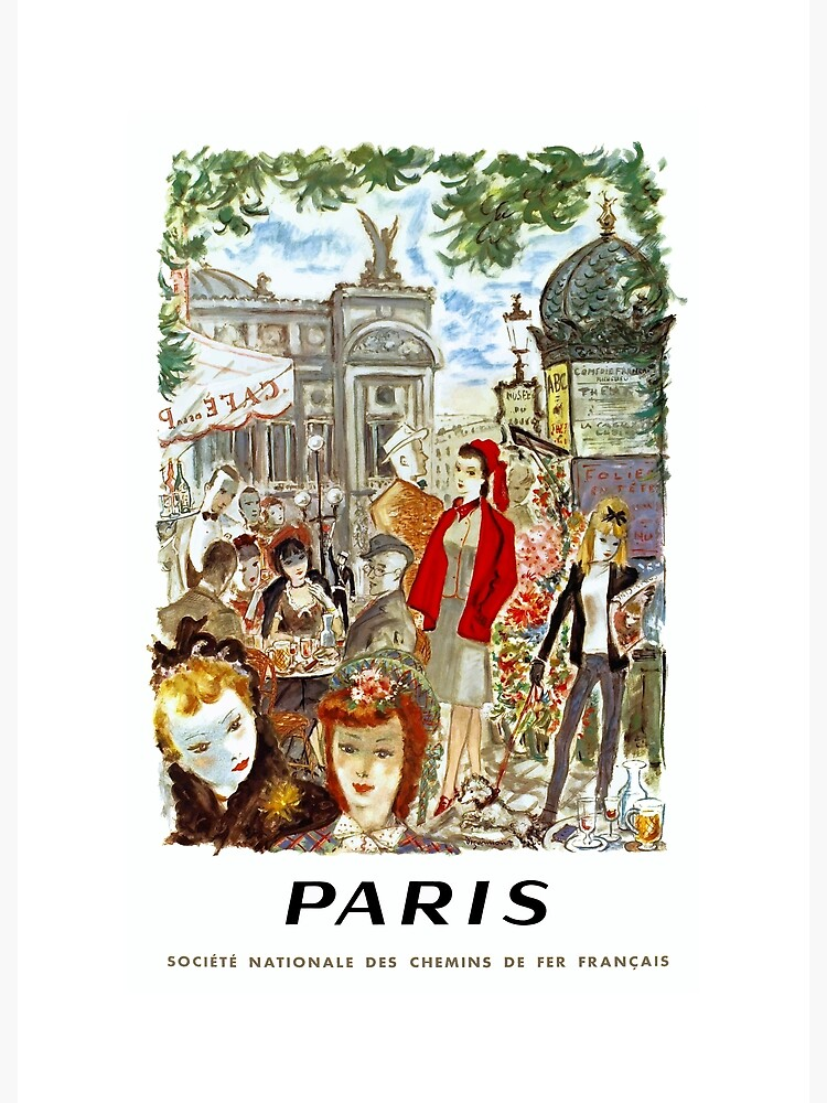 1962 PARIS French National Railways Travel Poster by retrographics
