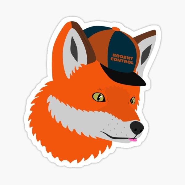Foxy Rodent Control Sticker