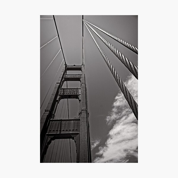 Suspended Transportation - Golden Gate Bridge - San Francisco - USA Photographic Print