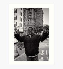 I never really looked up before - San Francisco - USA Art Print
