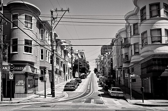 Cnr. Hyde and Washington. San Franscisco - USA by Norman Repacholi