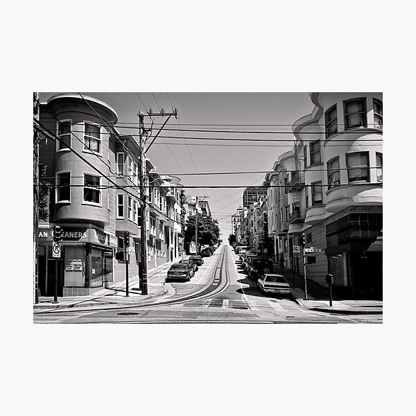Cnr. Hyde and Washington. San Franscisco - USA Photographic Print