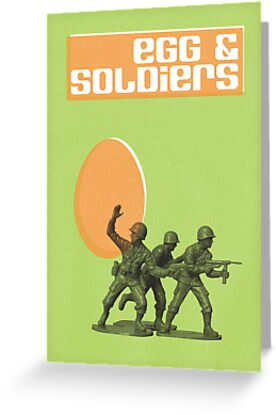 Egg & Soldiers Easter card by rperrydesign