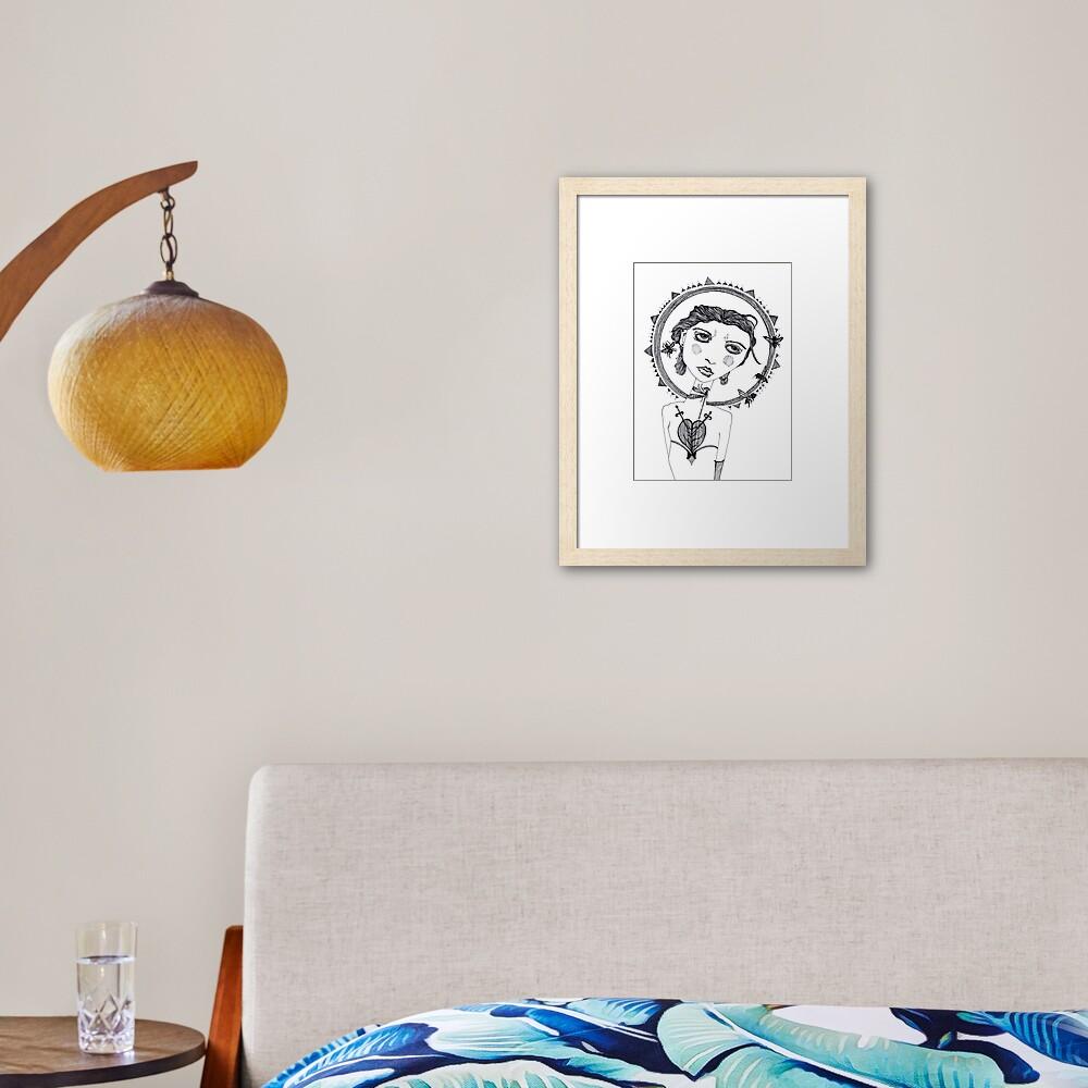 The Beekeeper Framed Art Print