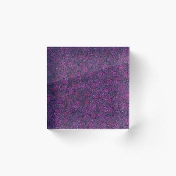 Dark Roses Acrylic Block