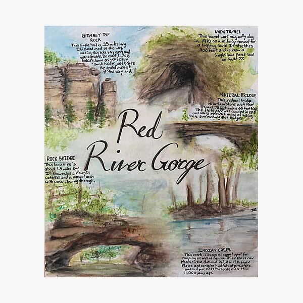 Red River Gorge Natural Attractions Painting Photographic Print