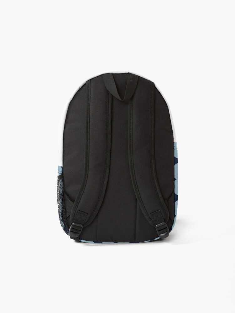 Alternate view of Mod Blossoms - Navy and French Blue Backpack
