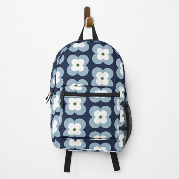 Mod Blossoms - Navy and French Blue Backpack