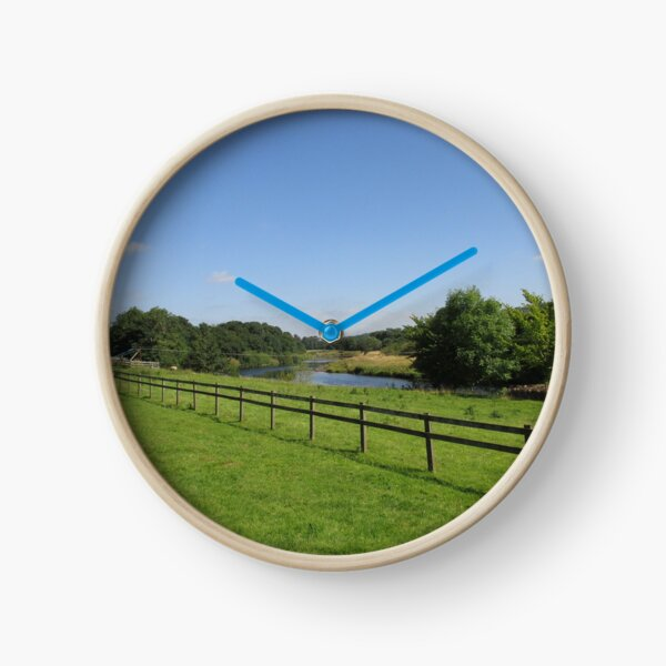 Merch #90 -- Stream Beyond The Fenced Field (Hadrian's Wall) Clock