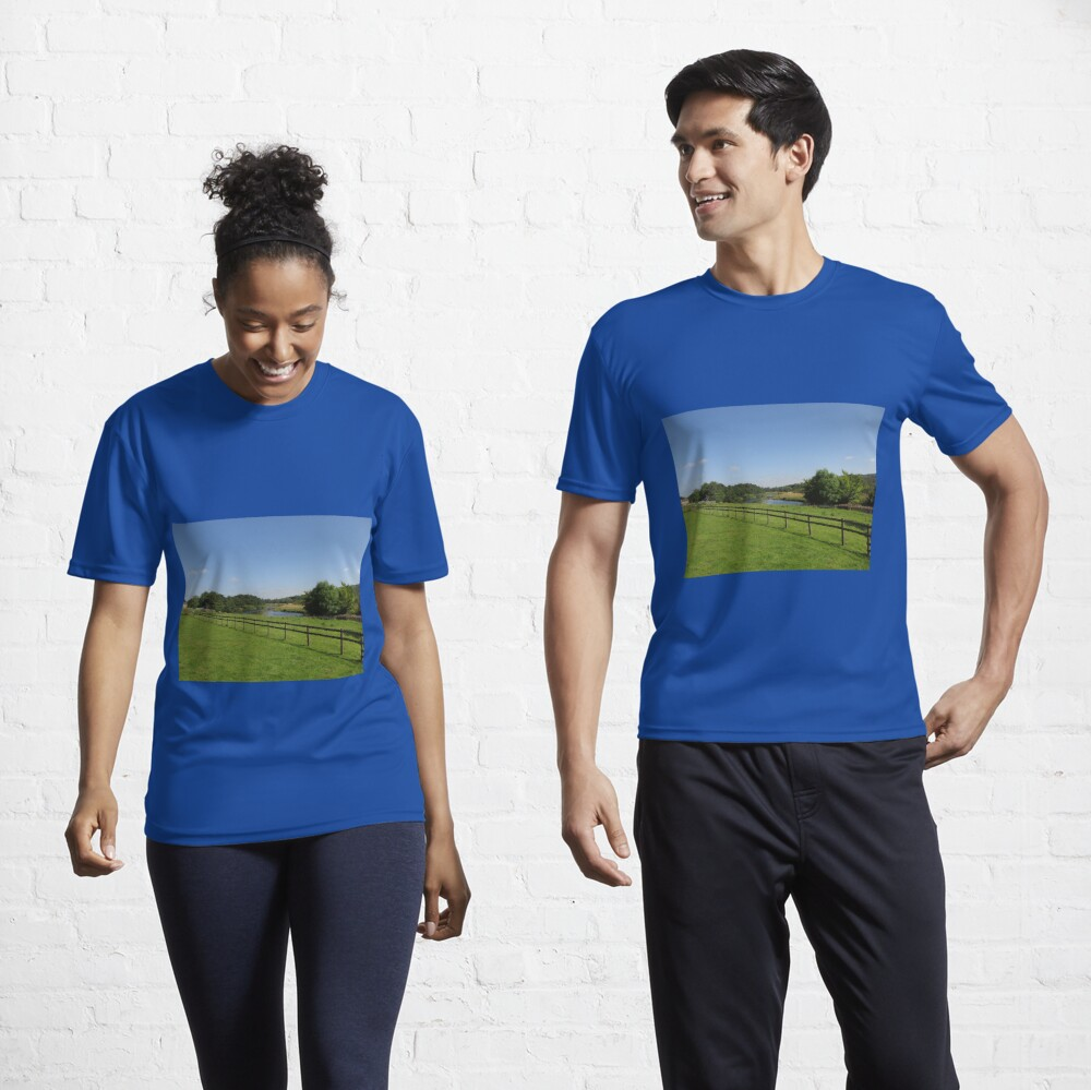 M.I. #90 |☼| Stream Beyond The Fenced Field (Hadrian's Wall) Active T-Shirt
