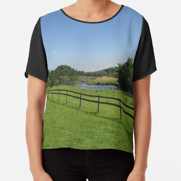 Merch #90 -- Stream Beyond The Fenced Field (Hadrian's Wall) Chiffon Top