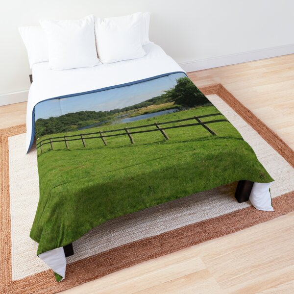 Merch #90 -- Stream Beyond The Fenced Field (Hadrian's Wall) Comforter