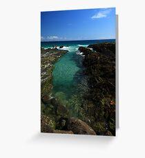 Rock Pool Snapper Rocks Greeting Card
